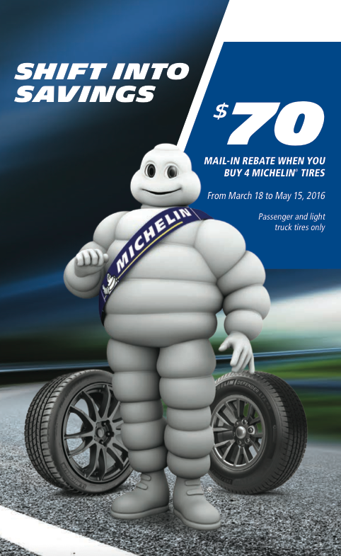 Michelin mail in rebate spring 2016