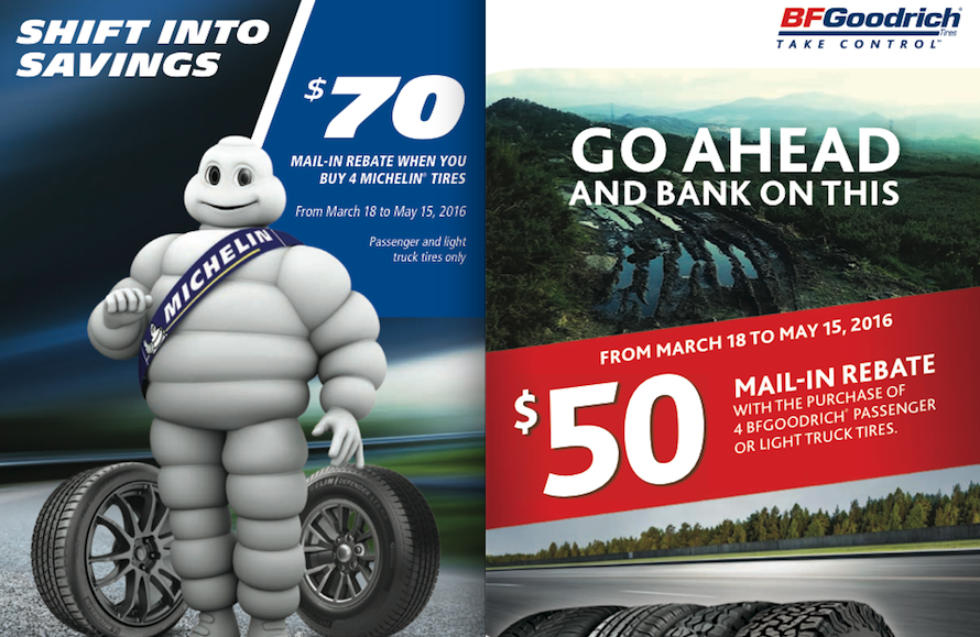 MICHELIN BFGOODRICH MAIL IN REBATE SPECIAL SPRING 2016